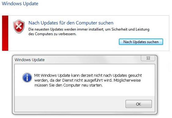 Mit Windows Updates Kann Derzeit Nicht Nach Updates Gesucht Werden